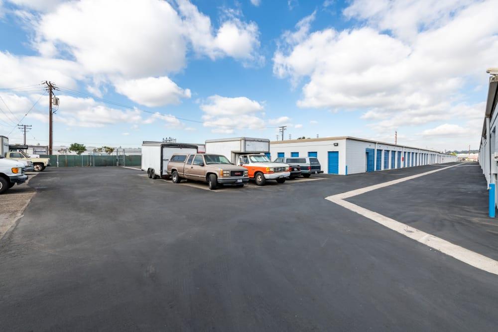 Storage parking at Storage Etc... Anaheim