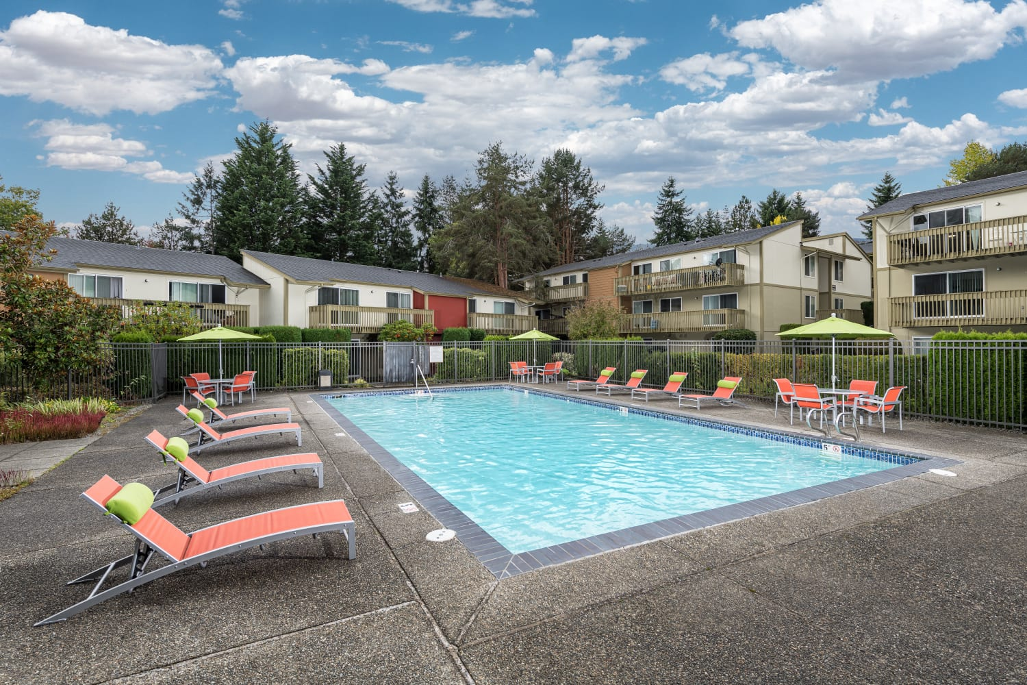 Edgewood Park Apartments offers a swimming pool in Bellevue, Washington
