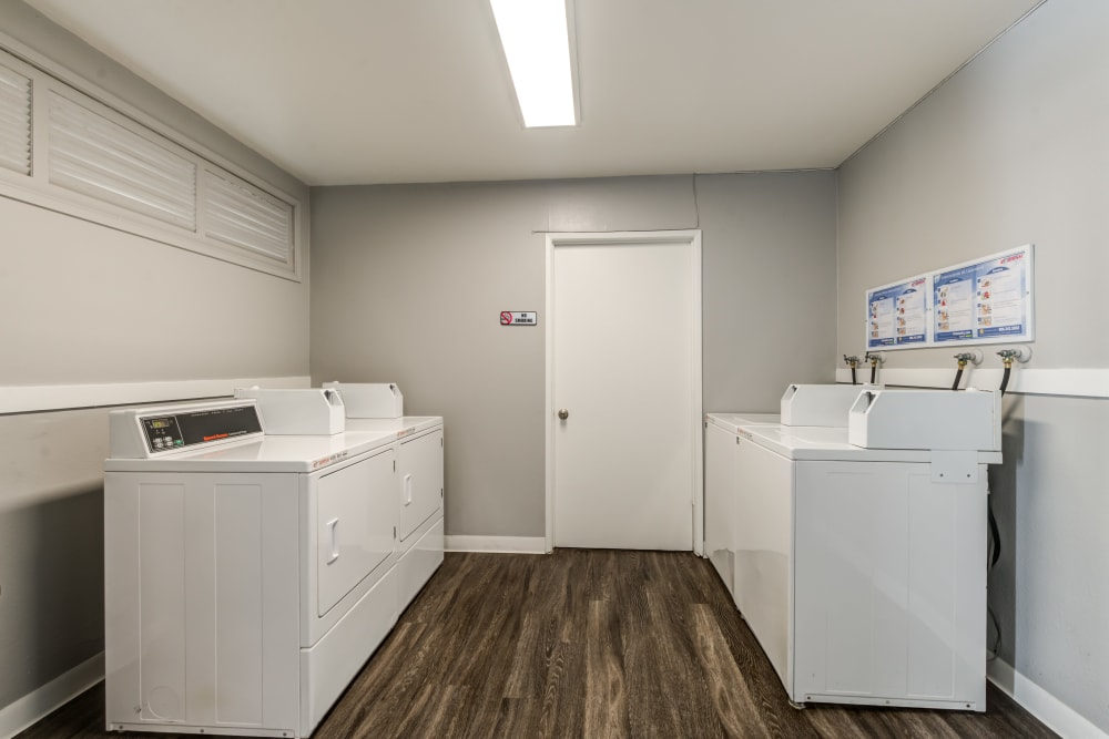 The laundry facilities at Kendallwood Apartments in Whittier, California