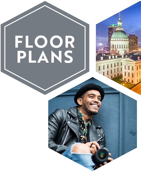 View our floor plans at Tribeca STL in St. Louis, Missouri