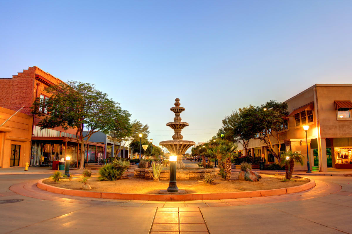 Roundabout in Ativo Senior Living of Yuma in Yuma, Arizona.