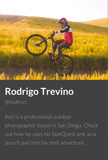 Rodrigo Trevino, ambassador for StorQuest Self Storage in Santa Monica, California