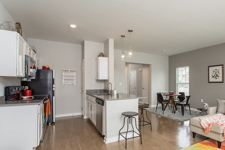Open floor plans at Woodland Acres Townhomes in Liverpool, NY