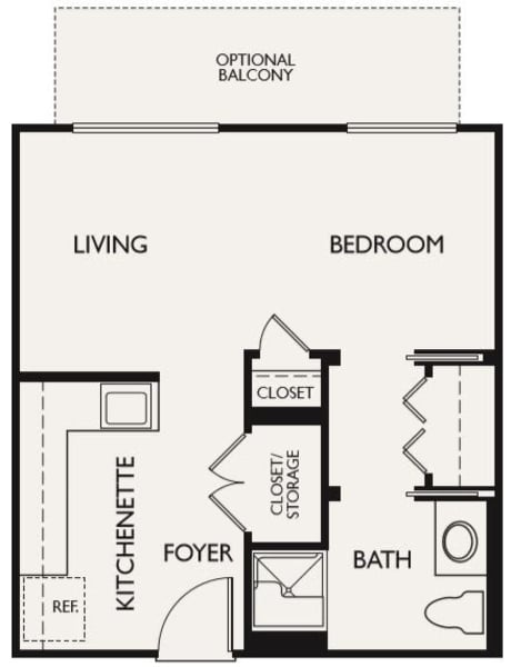 Plan A floor plans at The Inn at Greenwood Village in Greenwood Village, Colorado