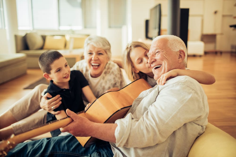 Singing with family