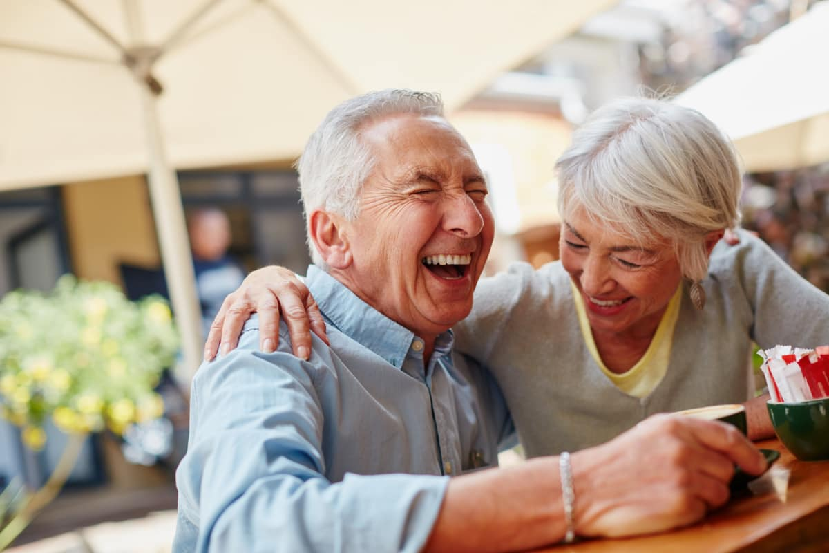 Seniors laughing at Crystal Terrace of Klamath Falls in Klamath Falls, Oregon
