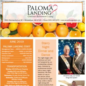 JunePaloma Landing Retirement Community Newsletter