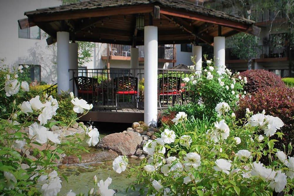Gazebo to relax and enjoy a nice view at Roseville Commons Senior Living in Roseville, California