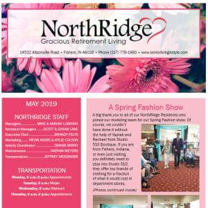 May Northridge Gracious Retirement Living newsletter