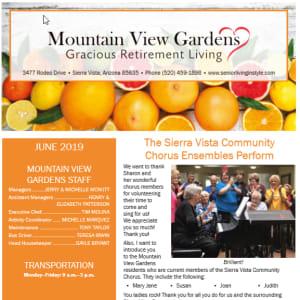 June Mountain View Gardens newsletter