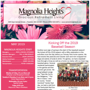 May Magnolia Heights Gracious Retirement Living newsletter