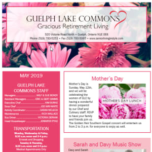 May Guelph Lake Commons newsletter
