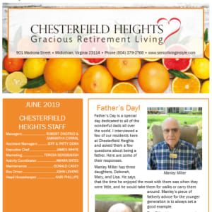 June Chesterfield Heights Newsletter