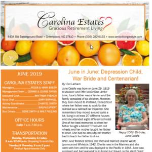 June Carolina Estates Newsletter