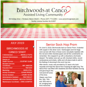 July Birchwoods at Canco Assisted Living Newsletter