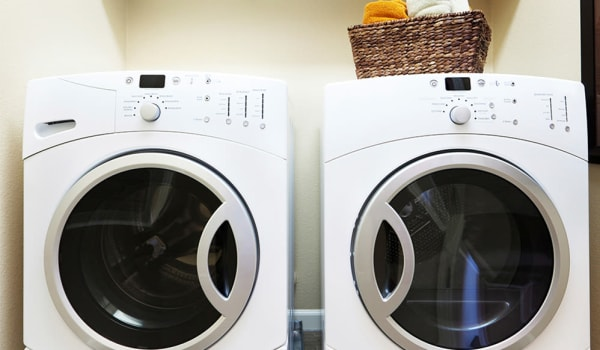 Washer and dryer in rentals at Winding Creek Apartments in Webster, New York.