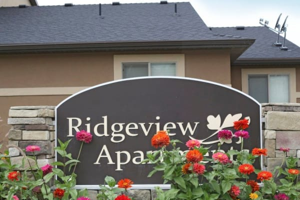 Sign at Ridgeview Apartments