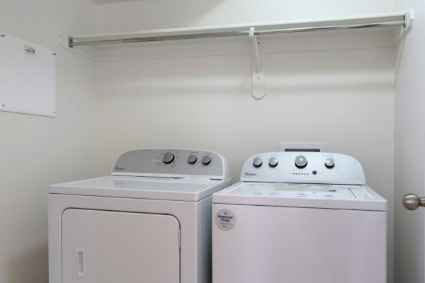 Washer and dryer at Ridgeview Apartments