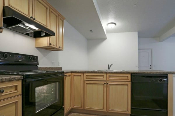 Spacious kitchen at Ridgeview Apartments