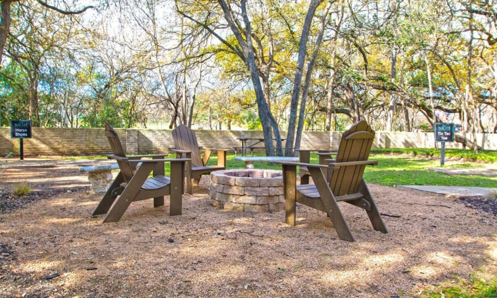 Outdoor chill spot with chairs at The Niche Apartments in San Antonio, Texas
