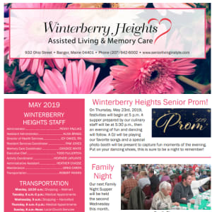May Winterberry Heights Assisted Living newsletter