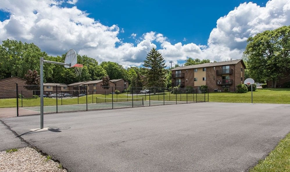 Basketball court at High Acres Apartments & Townhomes in Syracuse, New York