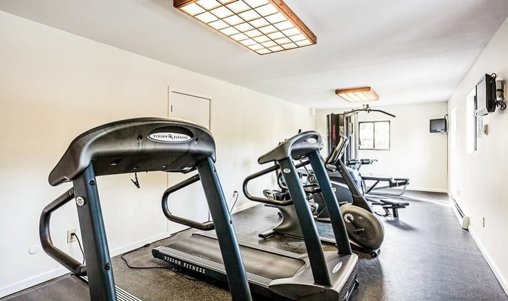 Fitness center at High Acres Apartments & Townhomes in Syracuse, New York