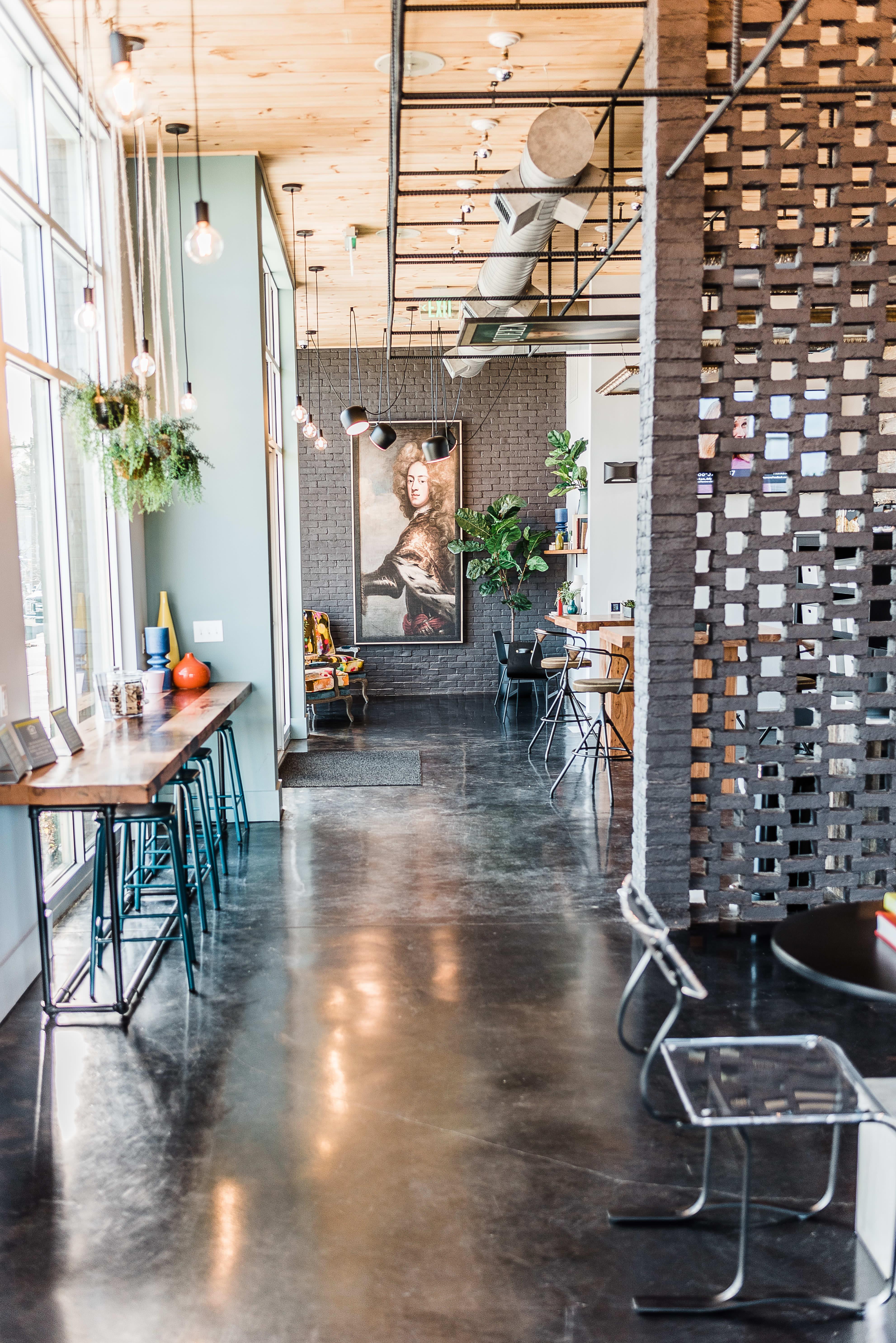 Luxurious entryway at Alta Warp + Weft in Charlotte, North Carolina