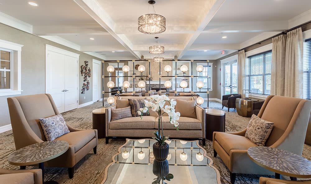 Modern living room at Rochester, New York