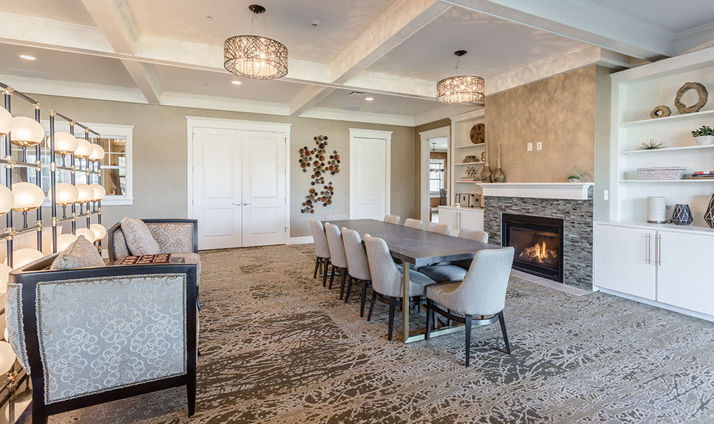Luxury dining room at Orchard View Senior Apartments in Rochester, New York