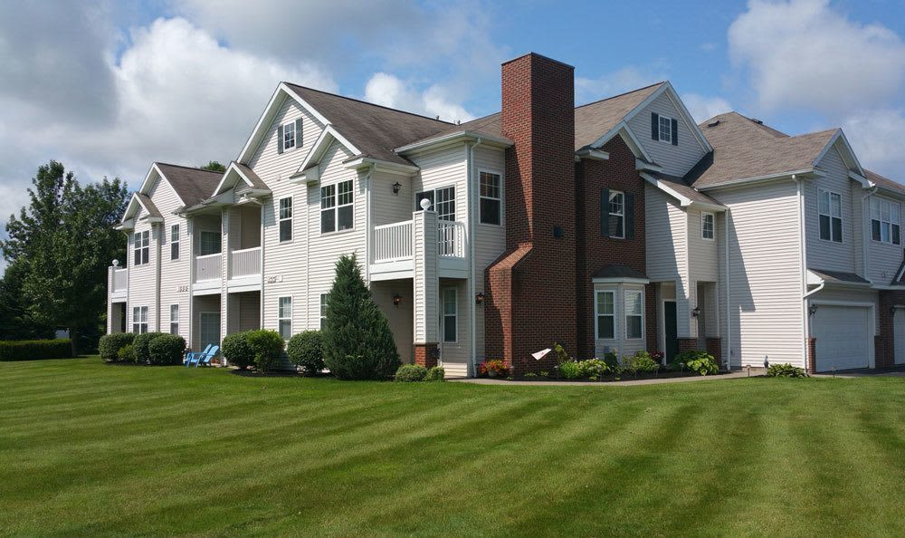 Front exterior view of Webster Green apartments in Webster, New York