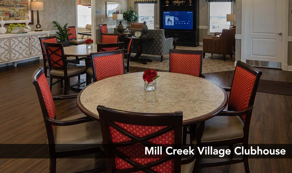 Clubhouse at Mill Creek Village Senior Living in Columbia, Missouri