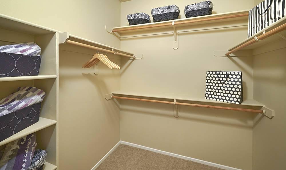 Closet at Legend Oaks Apartments