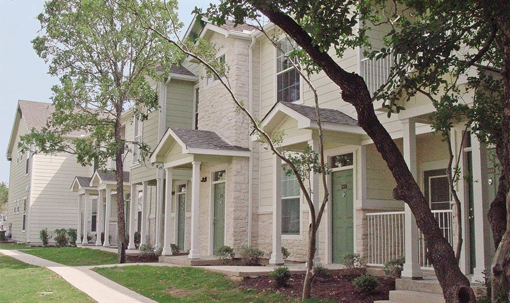 Beautiful Exterior Of Springs at Bandera Apartments In San Antonio