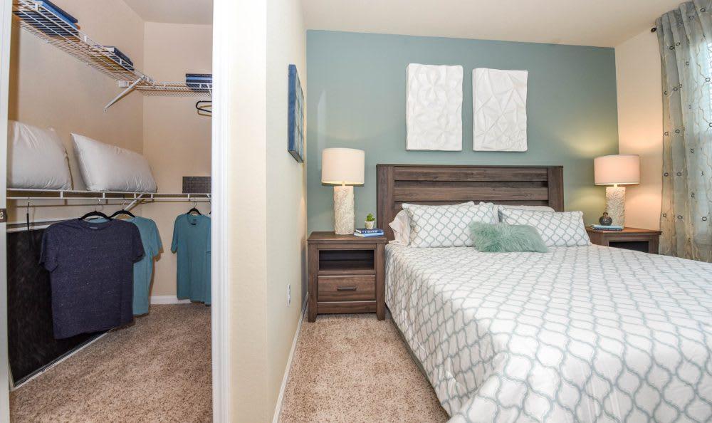 Master bedroom at Springs at Liberty Township Apartments in Liberty Township