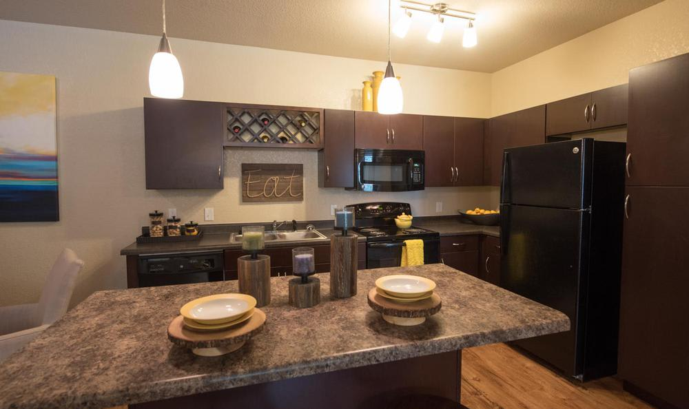 fully equipped kitchen room at Springs at Essex Farms in Charleston, SC