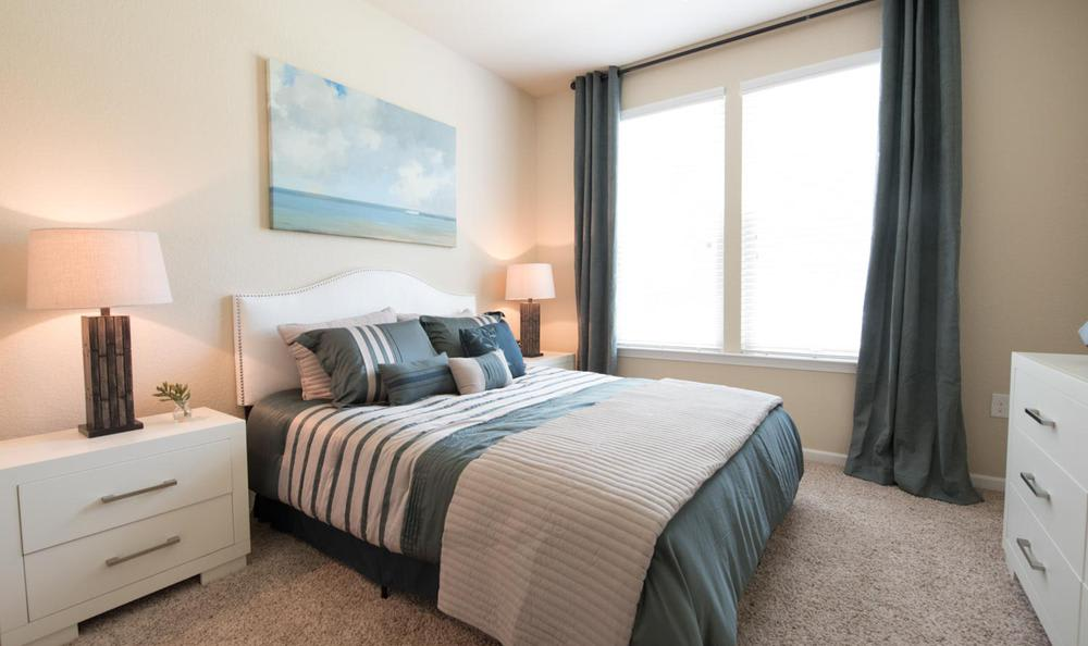 well decorated bedroom at Springs at Essex Farms in Charleston, SC