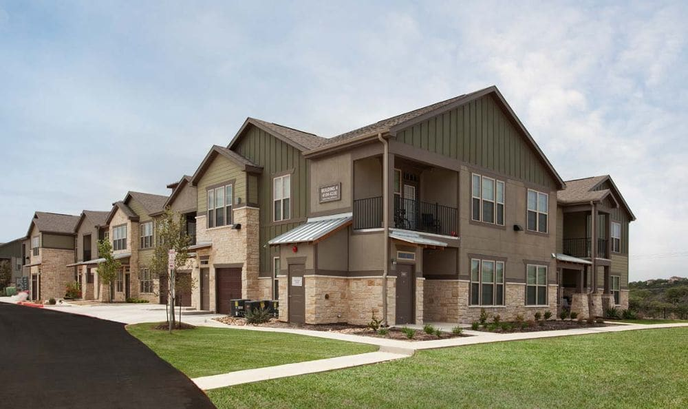 Luxury apartment exterior at Springs at Memorial in Oklahoma City