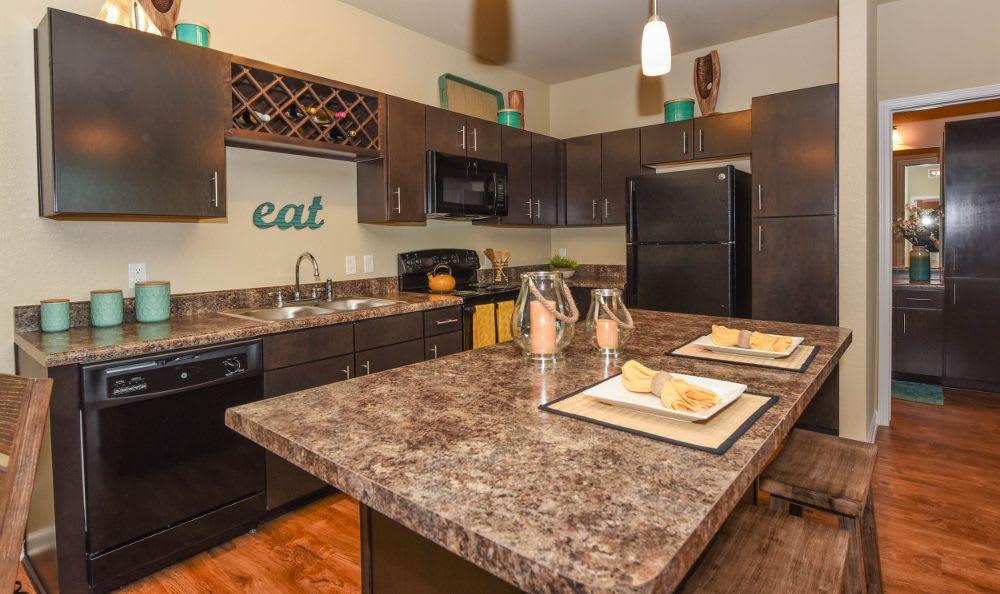 Kitchen at Springs at Memorial in Oklahoma City