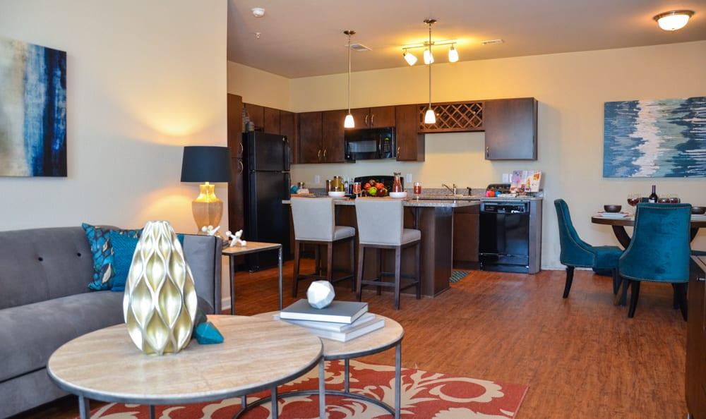Living room at Springs at Memorial in Oklahoma City