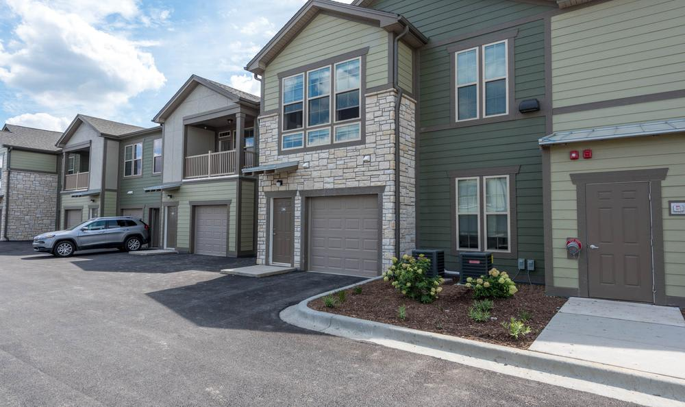 apartments garages at Springs at Weber Road in Romeoville, IL