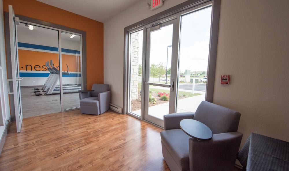 seating area at Springs at Weber Road in Romeoville, IL