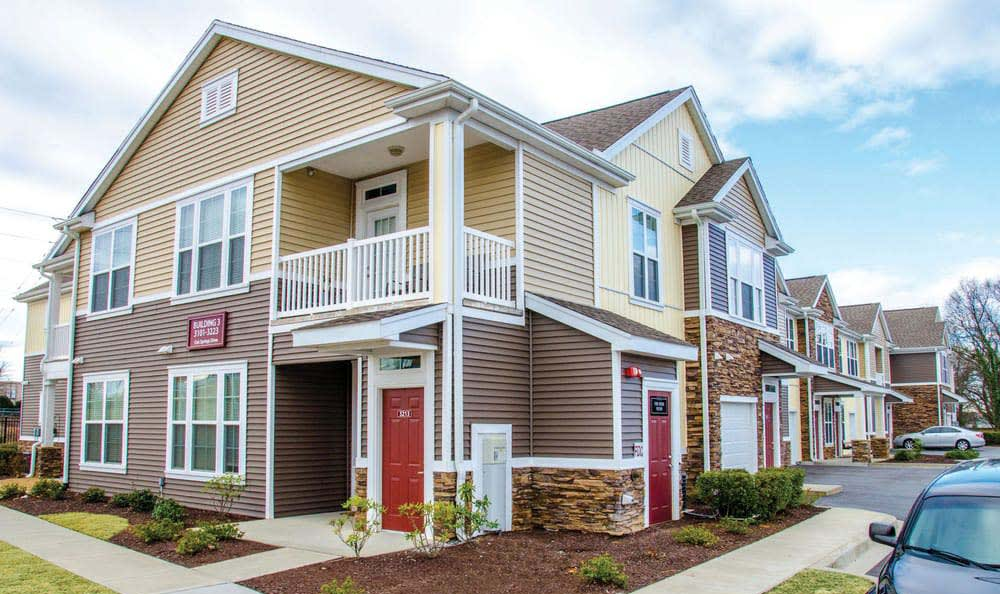 Private entry to all homes in Springs at Cottonwood Creek Apartments