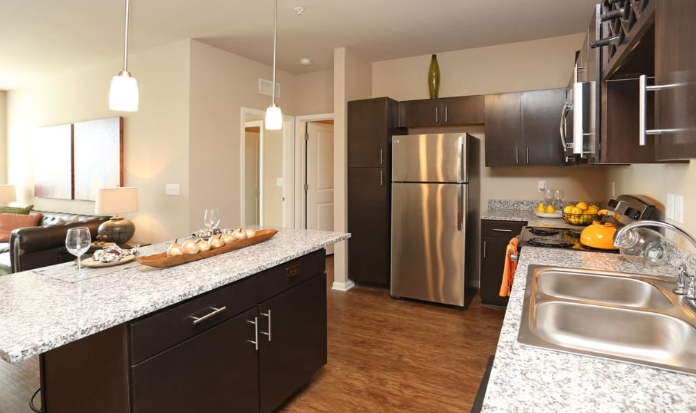 kitchen interior at Springs at Hurstbourne in Louisville, KY