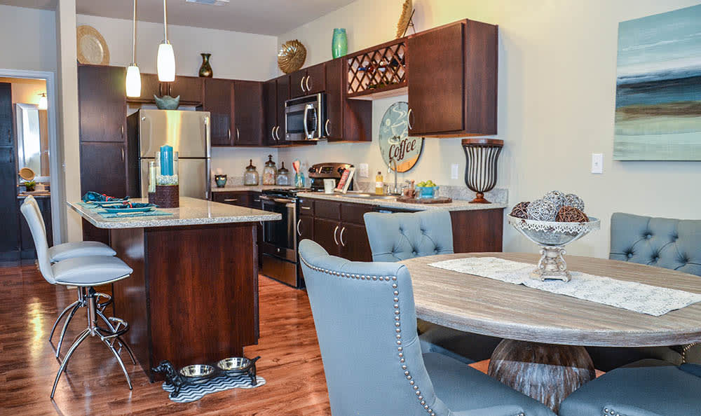 Dining And Kitchen Area At Springs at University Drive