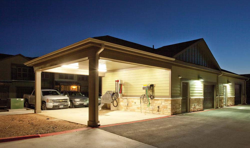 Car Care Area at Springs at Creekside in New Braunfels, TX