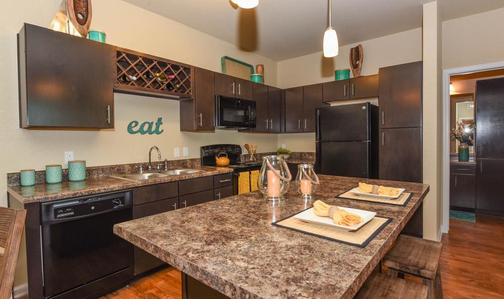 fully equipped kitchen at Springs at McDonough in McDonough, GA