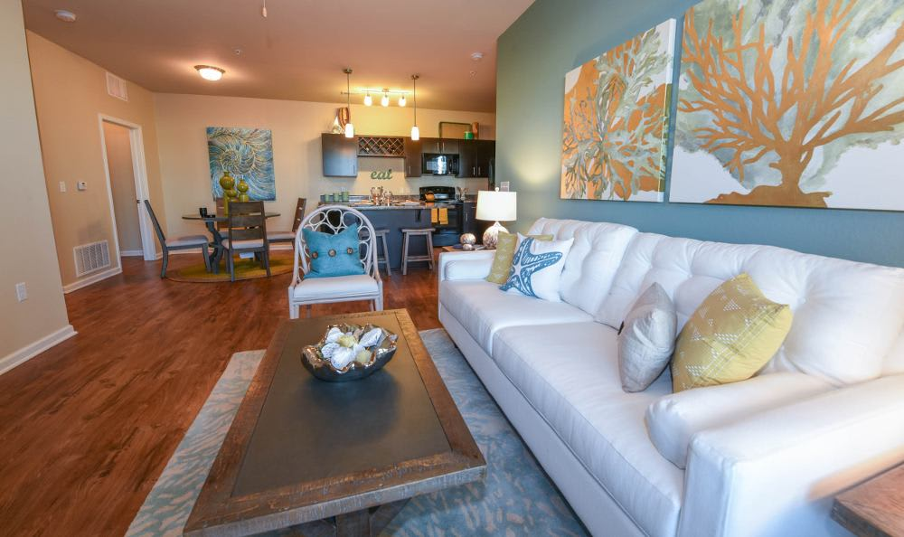 Spacious living room at Springs at Six Mile Cypressin Fort Myers