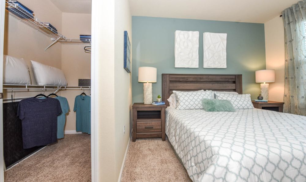 Bedroom with walk-in closet at Springs at Six Mile Cypressin Fort Myers