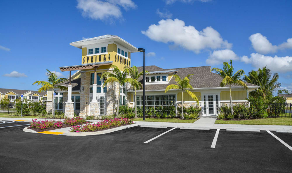 Clubhouse exterior at Springs at Six Mile Cypressin Fort Myers